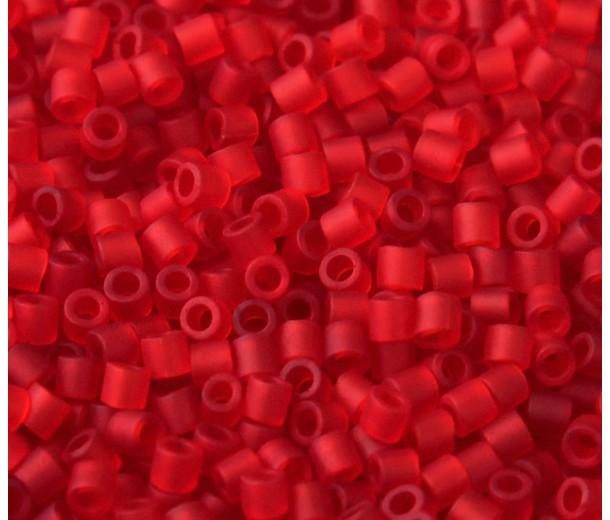 8/0 Miyuki Delica Seed Beads, Matte Light Red