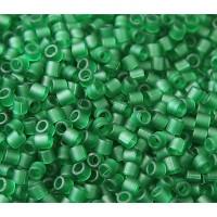 8/0 Miyuki Delica Seed Beads, Matte Kelly Green, 10 Gram Bag