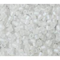 8/0 Miyuki Delica Seed Beads, Matte Rainbow Crystal, 10 Gram Bag