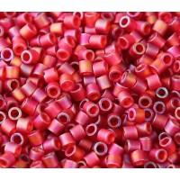 8/0 Miyuki Delica Seed Beads, Matte Rainbow Berry, 10 Gram Bag