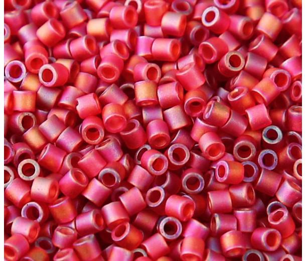 8/0 Miyuki Delica Seed Beads, Matte Rainbow Berry