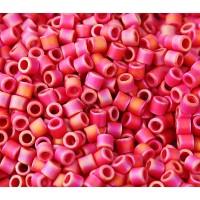 8/0 Miyuki Delica Seed Beads, Matte Rainbow Raspberry, 10 Gram Bag