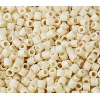 8/0 Miyuki Delica Seed Beads, Matte Rainbow Cream, 10 Gram Bag