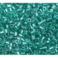8/0 Miyuki Delica Seed Beads, Aqua Sparkle Lined, 10 Gram Bag