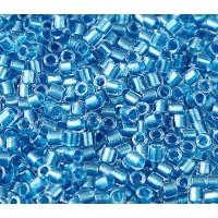 8/0 Miyuki Delica Seed Beads, Sky Blue Sparkle Lined, 10 Gram Bag