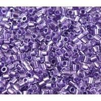 8/0 Miyuki Delica Seed Beads, Purple Sparkle Lined, 10 Gram Bag