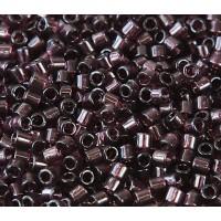 8/0 Miyuki Delica Seed Beads, Transparent Dark Amethyst, 10 Gram Bag