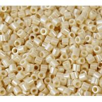 8/0 Miyuki Delica Seed Beads, Butter Cream Luster, 10 Gram Bag