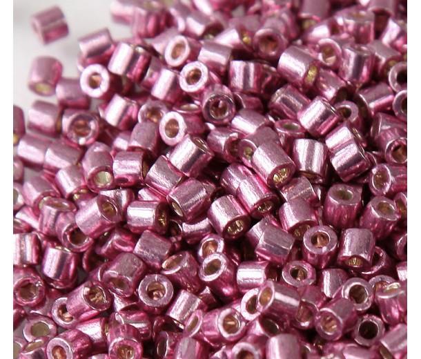 8/0 Miyuki Delica Seed Beads, Galvanized Dusty Orchid, 10 Gram Bag