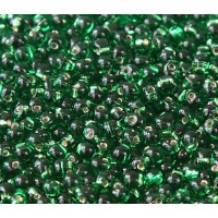 3.4mm Miyuki Drop Beads, Silver Lined Kelly Green, 10 Gram Bag
