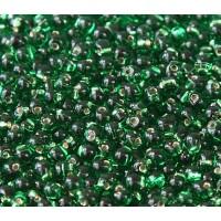 3.4mm Miyuki Drop Beads, Silver Lined Kelly Green