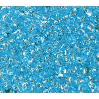 3.4mm Miyuki Drop Beads, Silver Lined Sky Blue, 10 Gram Bag