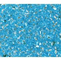 3.4mm Miyuki Drop Beads, Silver Lined Sky Blue, 10 Gram Bag