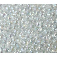 3.4mm Miyuki Drop Beads, Rainbow Crystal, 10 Gram Bag