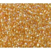 3.4mm Miyuki Drop Beads, Rainbow Light Gold, 10 Gram Bag