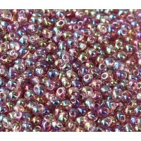 3.4mm Miyuki Drop Beads, Rainbow Light Amethyst, 10 Gram Bag