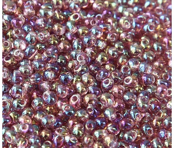 3.4mm Miyuki Drop Beads, Rainbow Light Amethyst, 10 Gram Bag