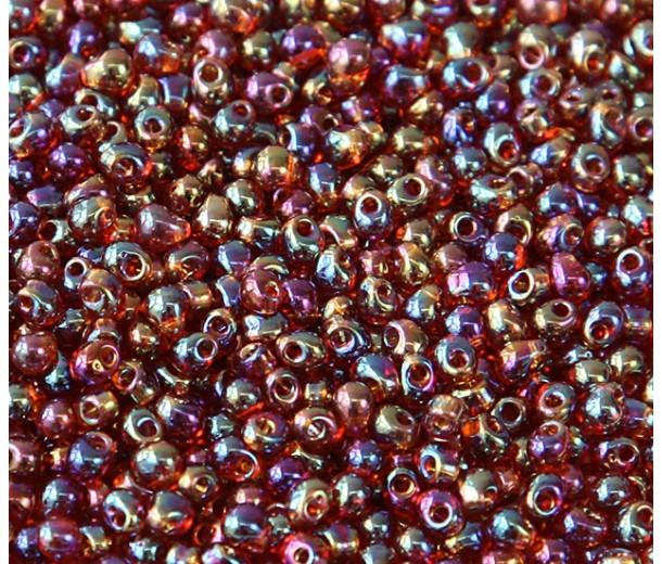 3.4mm Miyuki Drop Beads, Rainbow Amber, 10 Gram Bag