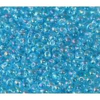 3.4mm Miyuki Drop Beads, Rainbow Sky Blue, 10 Gram Bag