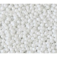 3.4mm Miyuki Drop Beads, Matte Rainbow White, 10 Gram Bag