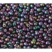 3.4mm Miyuki Drop Beads, Rainbow Metallic Violet, 10 Gram Bag