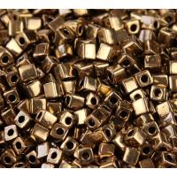 4mm Miyuki Square Beads, Metallic Bronze, 10 Gram Bag