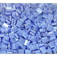 5x5mm Miyuki Tila Beads, Light Periwinkle Luster, 10 Gram Bag