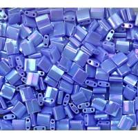 5x5mm Miyuki Tila Beads, Dark Periwinkle Luster, 10 Gram Bag