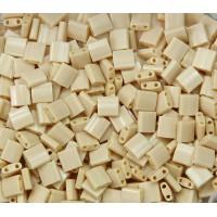 5x5mm Miyuki Tila Beads, Opaque Dark Tan, 7.2 Gram Tube