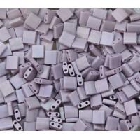 5x5mm Miyuki Tila Beads, Matte Rainbow Lavender, 10 Gram Bag