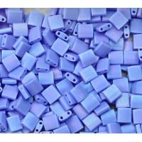 5x5mm Miyuki Tila Beads, Matte Rainbow Dark Periwinkle, 10 Gram Bag