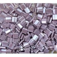 5x5mm Miyuki Tila Beads, Dusky Lilac Luster, 10 Gram Bag