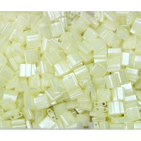 5x5mm Miyuki Tila Beads, Light Yellow Ceylon, 10 Gram Bag