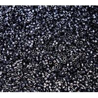 11/0 Miyuki Delica Seed Beads, Metallic Hematite, 7.2 Gram Tube