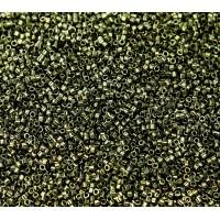 11/0 Miyuki Delica Seed Beads, Metallic Olive, 5 Gram Bag