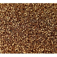 11/0 Miyuki Delica Seed Beads, Metallic Light Bronze, 5 Gram Bag