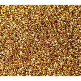 11/0 Miyuki Delica Seed Beads, 24K Gold Plated
