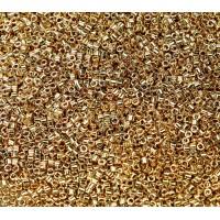 11/0 Miyuki Delica Seed Beads, 24K Light Gold Plated, 7.2 Gram Tube