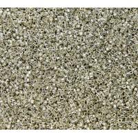 11/0 Miyuki Delica Seed Beads, Galvanized Silver, 7.2 Gram Tube