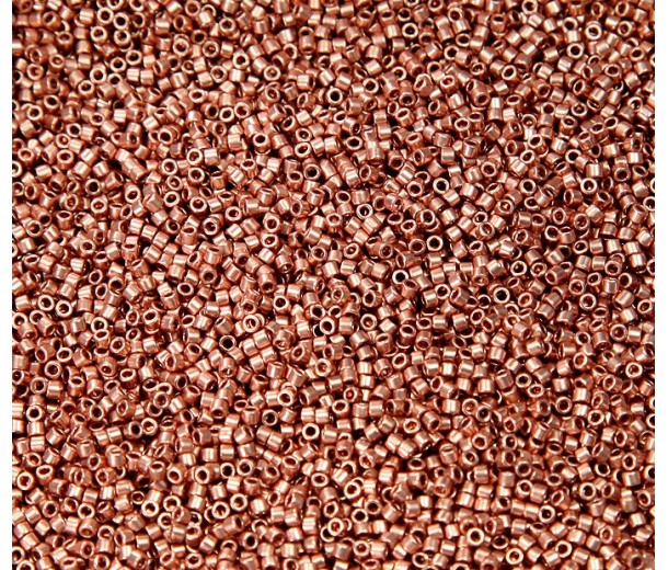 11/0 Miyuki Delica Seed Beads, Copper Plated, 5 Gram Bag