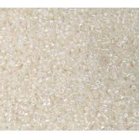 11/0 Miyuki Delica Seed Beads, Rainbow Luster Lined Crystal, 5 Gram Bag