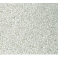 11/0 Miyuki Delica Seed Beads, White Lined Crystal, 5 Gram Bag