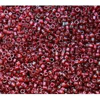 11/0 Miyuki Delica Seed Beads, Garnet Luster, 7.2 Gram Tube