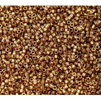11/0 Miyuki Delica Seed Beads, Gold Rose Luster, 5 Gram Bag