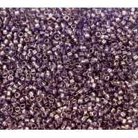 11/0 Miyuki Delica Seed Beads, Blue Lavender Luster