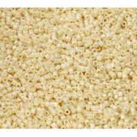 11/0 Miyuki Delica Seed Beads, Rainbow Opaque Cream, 5 Gram Bag