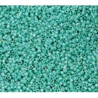 11/0 Miyuki Delica Seed Beads, Rainbow Dark Aqua, 5 Gram Bag