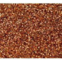 11/0 Miyuki Delica Seed Beads, Copper Lined Light Topaz, 5 Gram Bag