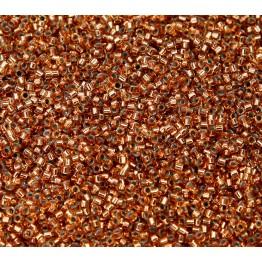 11/0 Miyuki Delica Seed Beads, Copper Lined Light Topaz