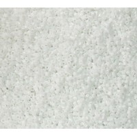 11/0 Miyuki Delica Seed Beads, Opaque White, 5 Gram Bag